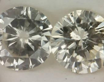 Matched Pair of White Round Loose Diamonds, .38cttw, J/K, SI2/I1