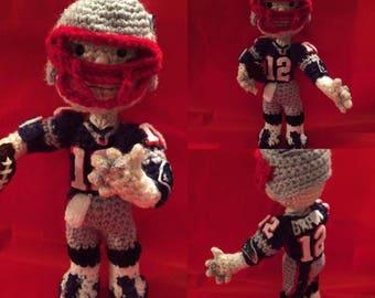 Mini crochet Tom brady from Hiboutique