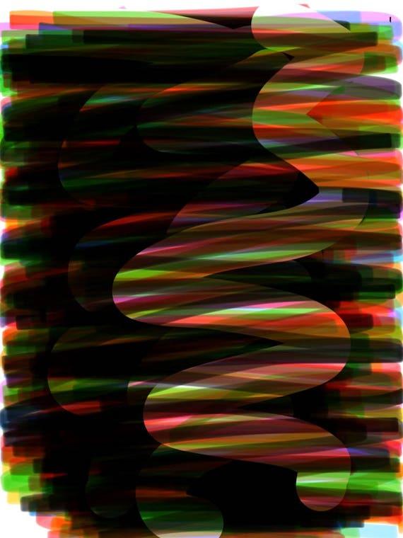 Lap Dance - Abstract Fine Art Print.