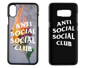 Anti Social Social Club iPhone Case, Anti social social club iPhone x Case, iPhone 8 Plus Case, Samsung S7 Case, Samsung Galaxy S8 Case