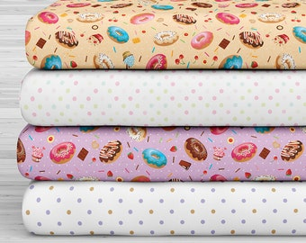 27x17 Felt Sheets - Candy Shop Collection - Donuts - Pack of 4
