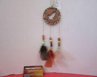 Eagle Wood Silhouette Dream Catcher Ornament #2