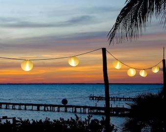 Isla Mujeres Sunset on canvas