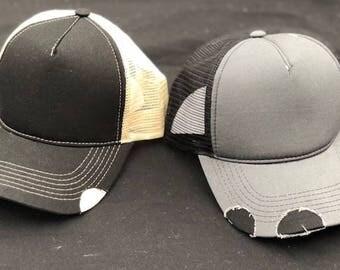 Custom Ditressed Trucker Hat
