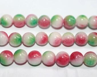15 Inches Full strand, Mixed Color jade round beads 6mm 8mm 10mm 12mm Jade Beads Wholesale,loose beads,semi-precious stone