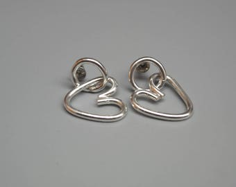 Sterling Silver Heart Dangles