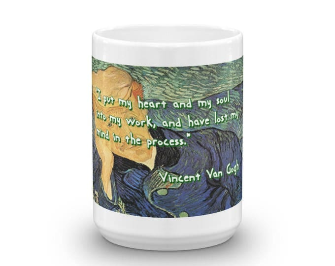 Vincent Van Gogh self portrait mug, Fine Art Cup, Van Gogh Painting Theme Design, Famous Artist, Coffee Fiend, Coffee Lovers, Coffee Gift