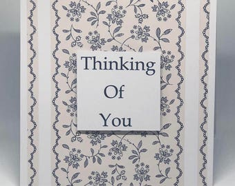 Thinking of you, sympathy cards, loss cards, funeral cards, commiserations cards, death cards, flower cards, blue cards, ready to post