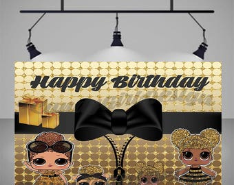 LOL Surprise Glitter Dolls Printable Party Backdrop, Decorations, Poster, Sign, Banner, Birthday Party Full size-**Can be customized**