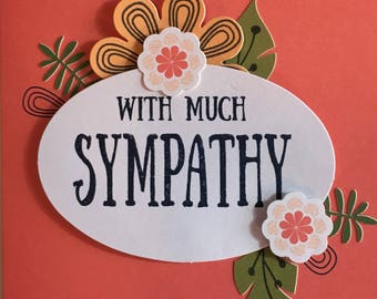 Stampin' Up Handmade Greeting Card: With Sympathy