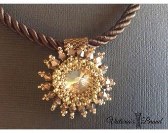 Pendant Necklace with Swarovski stone