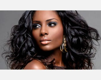 Beauty hair Salon Brunette Poster or Canvas