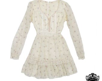 Cream little house on the prairie babydoll dress