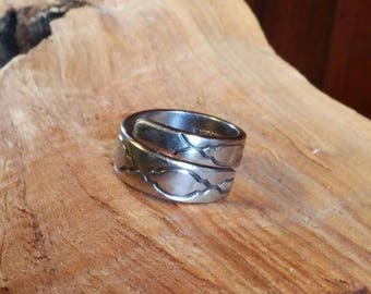 Vintage Pattern Spoon Ring