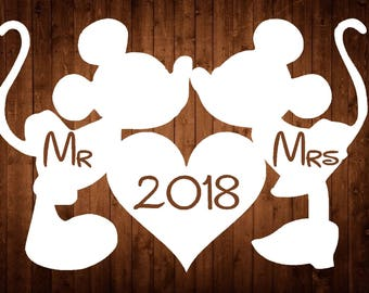 Disney Style Mickey & Minnie Papercutting Template Wedding/ Anniversary/ Engagement 2018