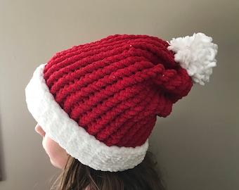 Knit Santa Hats