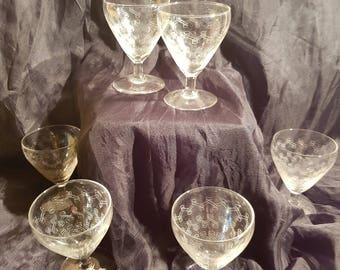 6 glasses engraved