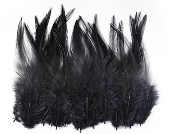 Rooster Feathers Black 10312