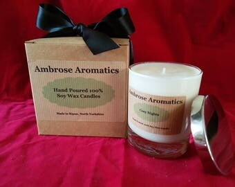 Cosy Nights Scented 100% Premium Soy Wax Candle-20cl.