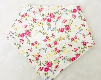 Floral print Bandana Bib