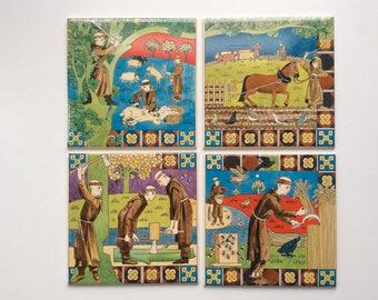 Ceramic decorative tile and tile panel
