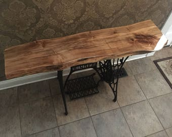 Live edge red oak table