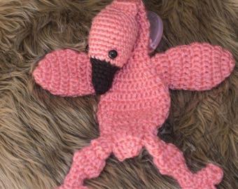 Pink Flamingo Binky Baby