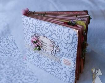 Baby girl scrapbook album, first year photo album, memory book, photo book, memory album, handmade scrapbook album, photo book