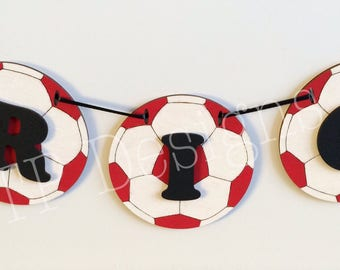Wooden Football Bunting