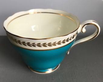 Orphan turquoise Aynsley teacup