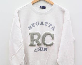 RC REGATTA CLUB White Vintage Sweater Sweatshirt Size L