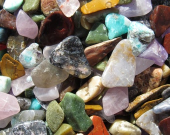 Variety of Small Polished Stones. Healing Crystals.  DIY Projects.  Jewelry Making.  Aquariums.
