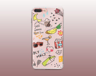 Funny Clear TPU Phone Case for iPhone 8- iPhone 8 Plus - iPhone X - iPhone 7 Plus-iPhone 7- iPhone 6 - iPhone 6S - iPhone SE - Samsung S8