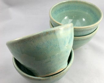 Set of 4 Small Ceramic Bowls - Ice Cream Bowls- Ceramic Handthrown