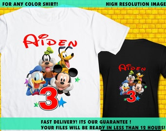 Disney CLubhouse / Iron On Transfer / Birthday Shirt Design / DIY Shirt / High Resolution / For Any Color T Shirt / 12 Hours Turnaround Time