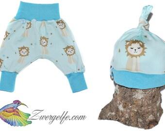 Baby set bloomers cap lion cub (Biojersey) Blue