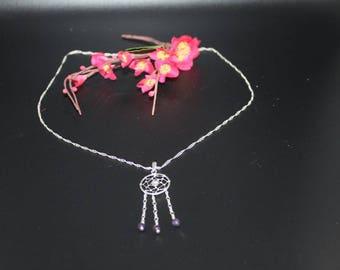DreamCatcher necklace dream Amethyst