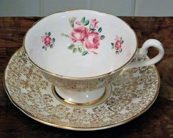 Teacup with saucer vintage English Bone China