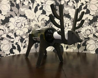 Wooden Wine Rack Black Deer Standing Wine Bottle Holder made of wood thickness 8mm Wine Gifts Wine Accessories