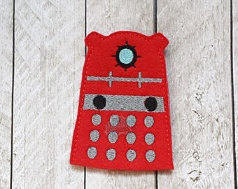 Doctor Finger Puppets, Dalek, Red, Robot, Evil, Time, Space, Wibbly Wobbly