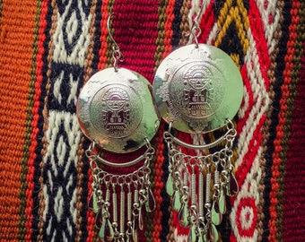 Inca warrior dangle earring