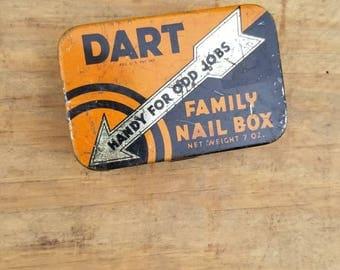 Dart Family Nail Box Kress Stores Vintage Store Home Decor
