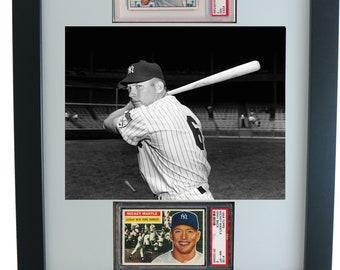 Graded Sports Card Frame for (2) PSA Horizontal Cards & 8 x 10 Horizontal Photo Opening
