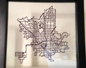Hometown Map Papercut