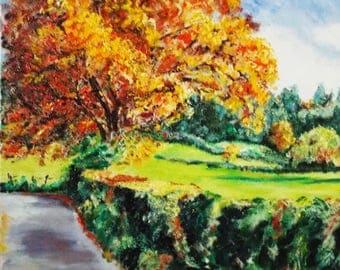 "8, "" Memory Lane "" Landscape Painting"