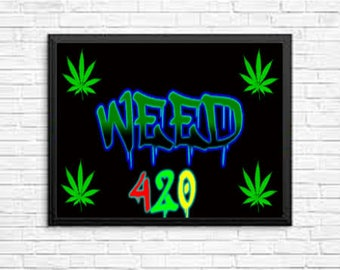 Weed 420 Limited Edition Wall Art