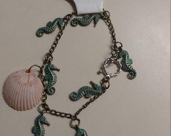 Seashell bracelet or anklet
