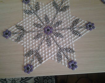 Geometric Beaded Lace Cover