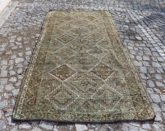 Pale Colored Organic Wool Turkish Rug Free Shipping Bohemian Rug 4.7 x 9.6 ft. Anatolian Rug Boho Decor Aztec Rug Floor Rug Rustic Rug MB109