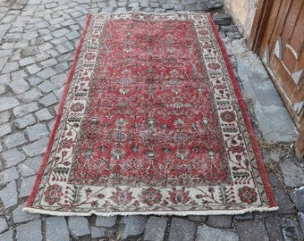 King Size Rare Turkish Rug 3.9x 6.9 ft. Free Shipping Oushak Rug Large Rug Boho Rug turkish home decor rug bohemian rug floor rug  MB179